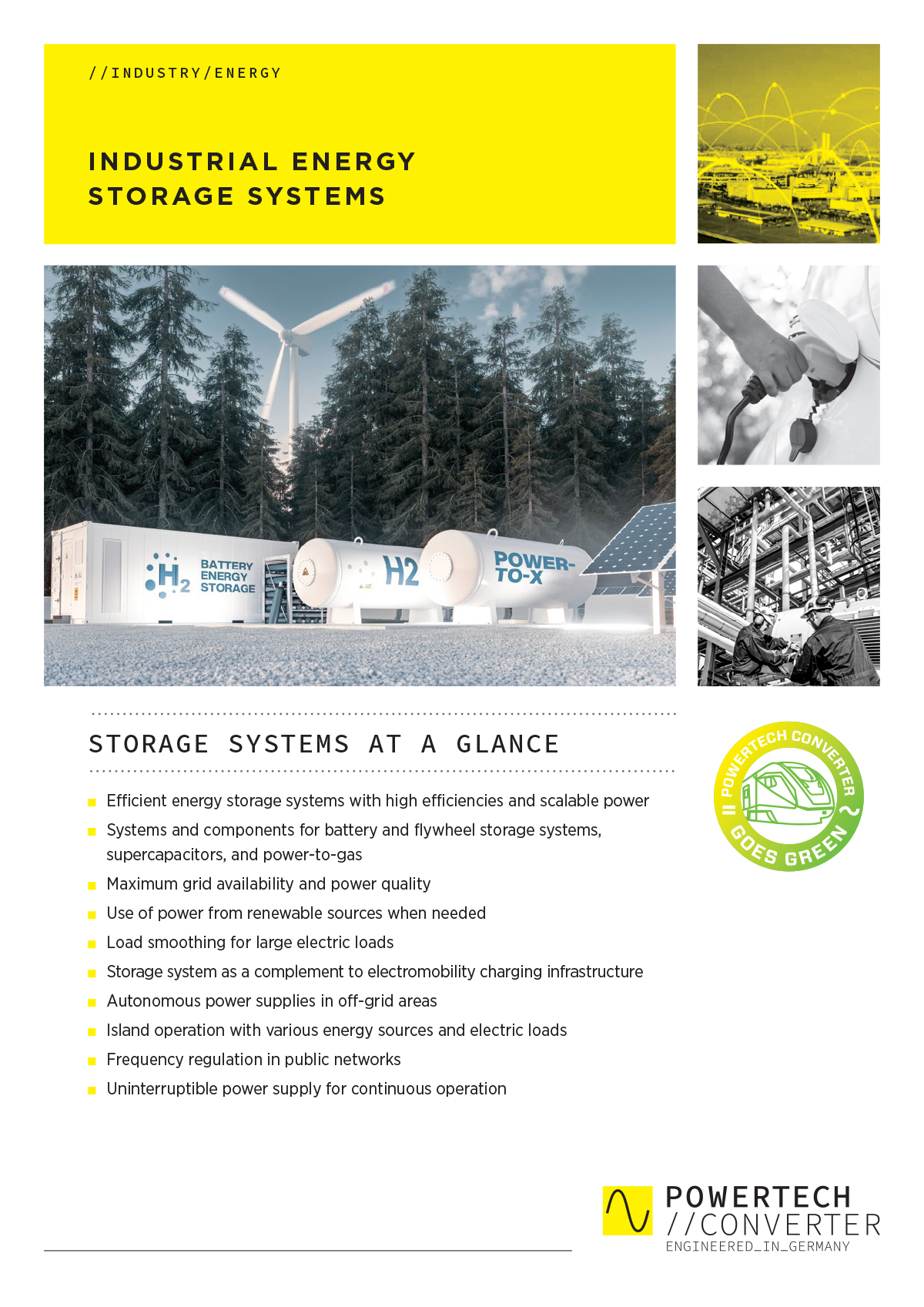 INDUSTRIAL ENERGY STORAGE SYSTEMS