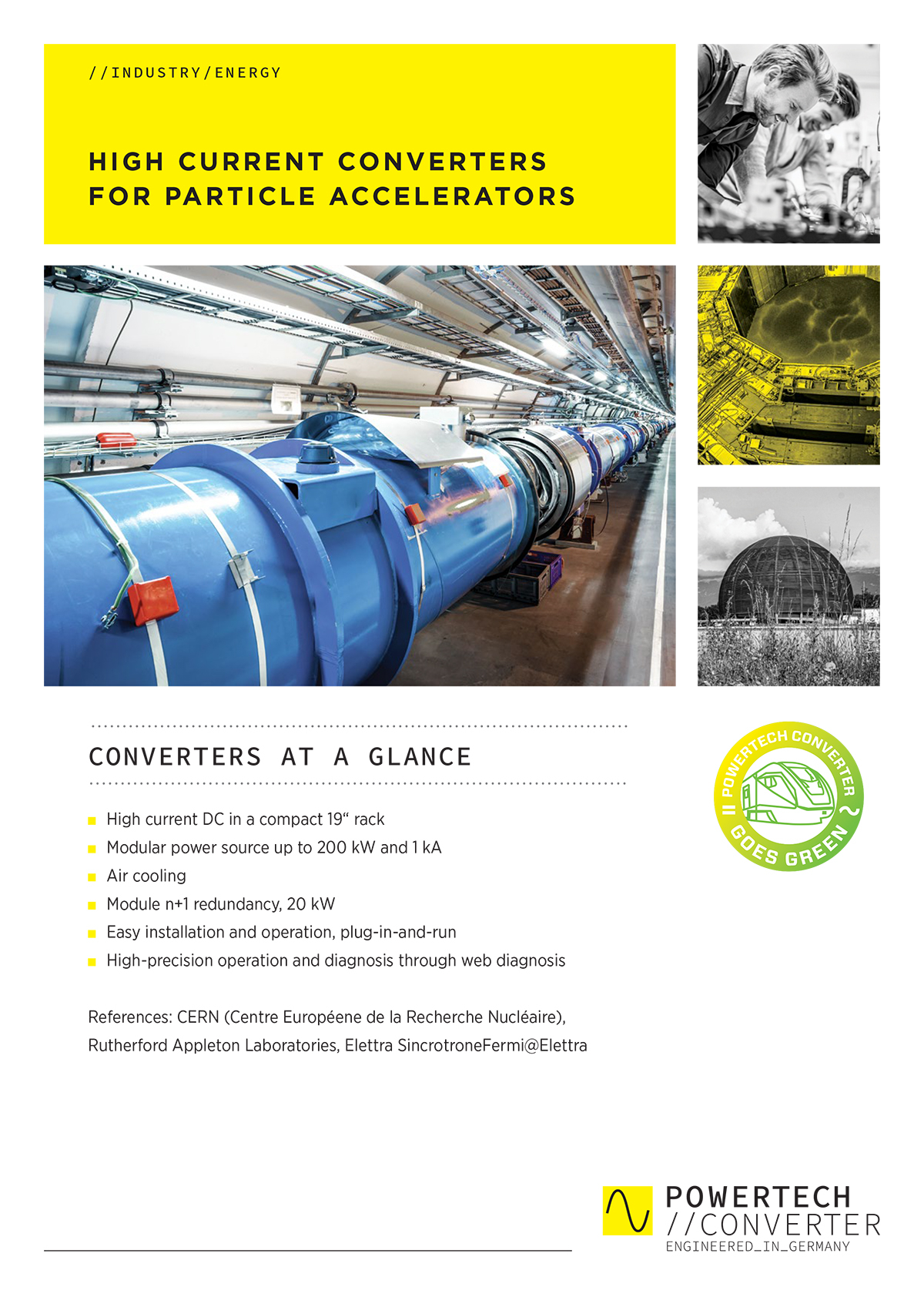 HIGH CURRENT CONVERTERS FOR PARTICLE ACCELERATORS