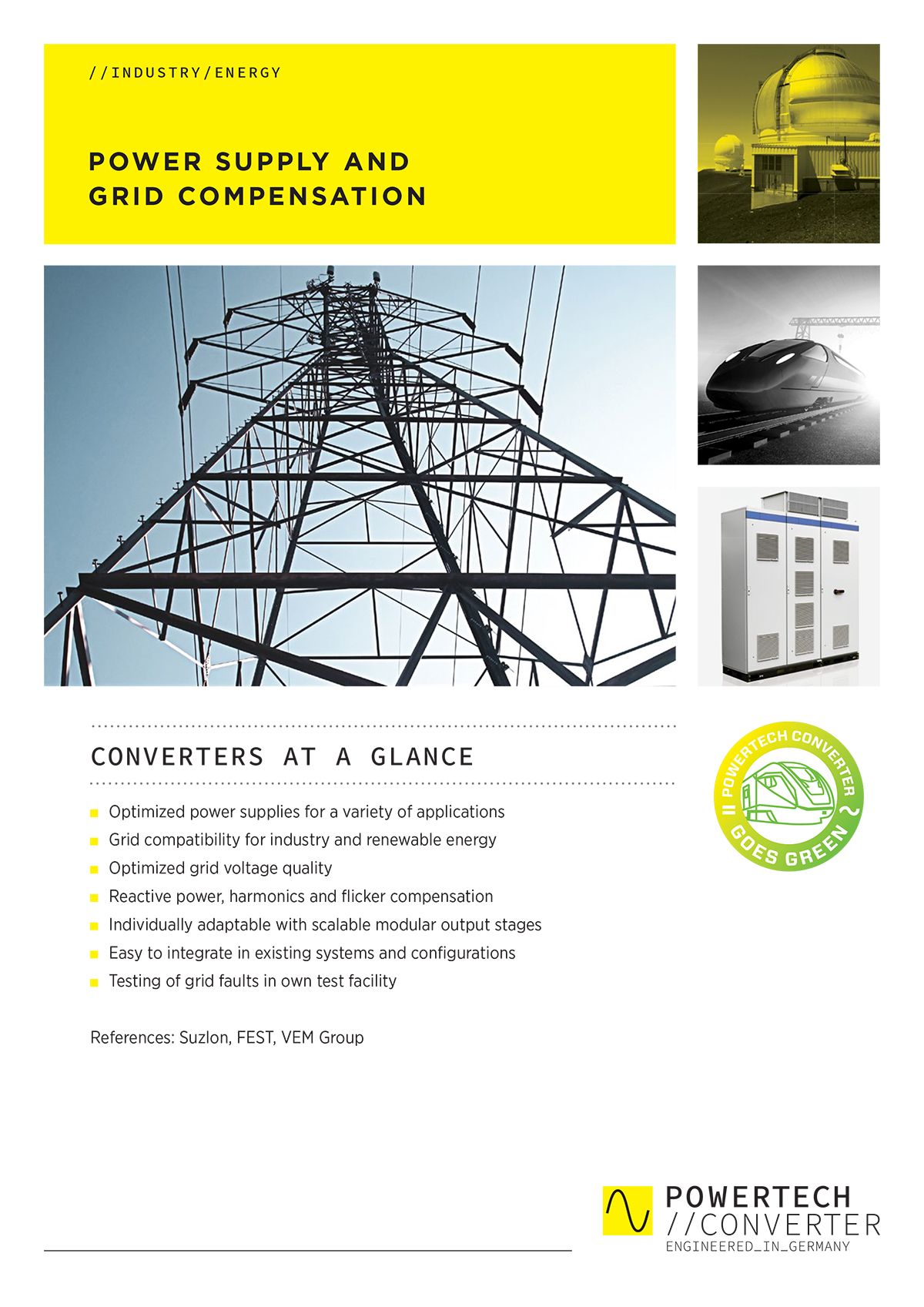 POWER SUPPLY AND GRID COMPENSATION