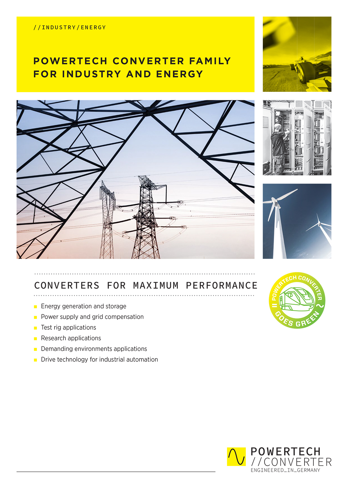 POWERTECH CONVERTER FAMILY FOR INDUSTRY AND ENERGY